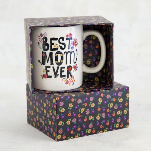 Natural Life Floral Kaffeetasse Tasse Best Mom Ever