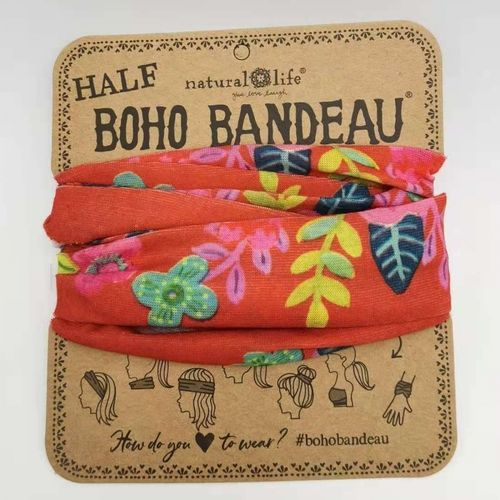 Natural Life Bandeau Haarband Red Floral