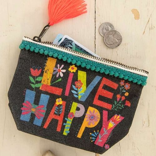 Natural Life Canvas Mini Tasche Live Happy