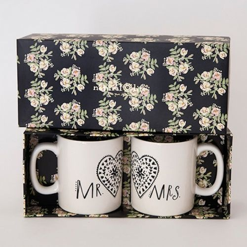 Natural Life Kaffeetasse Tassen Set Mr. & Mrs.